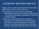 the british take new york city