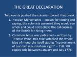 the great declaration1