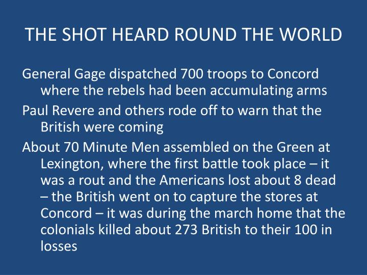 The shot heard round the world1