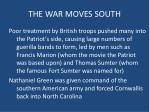 the war moves south1