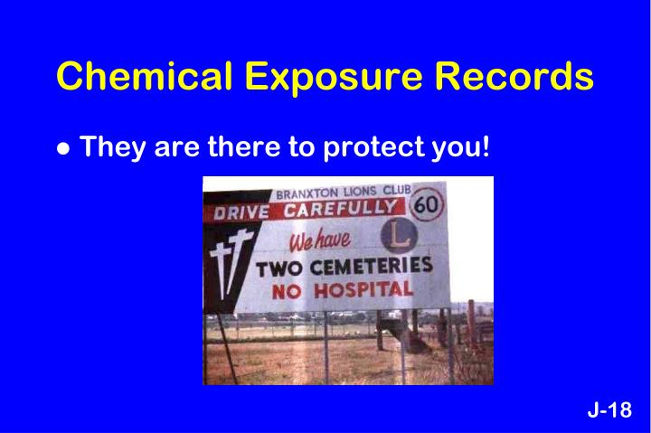 Chemical Exposure Records
