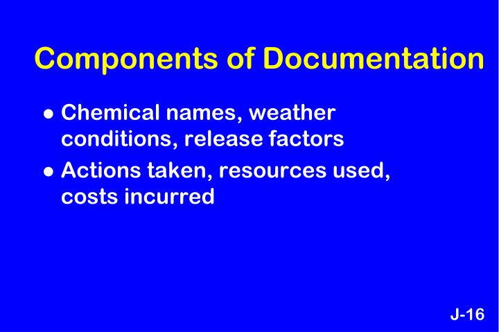 Components of Documentation