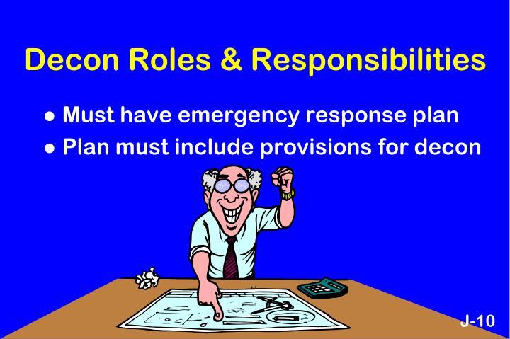 Decon Roles & Responsibilities