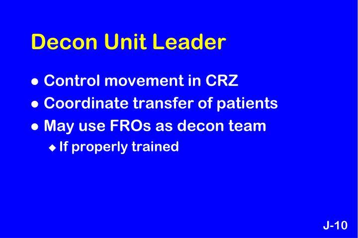 Decon Unit Leader