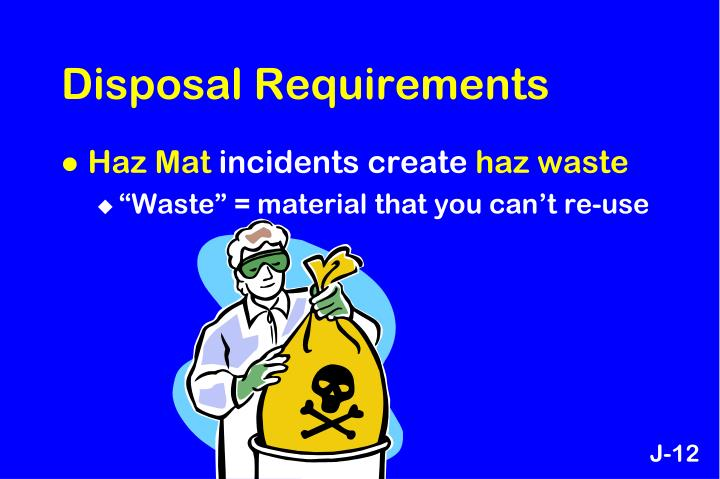 Disposal Requirements
