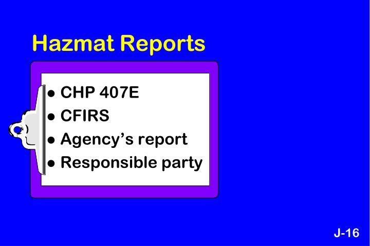 Hazmat Reports