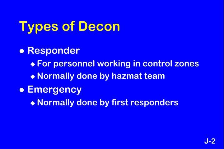 Types of Decon
