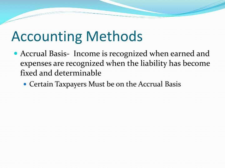Accounting Methods