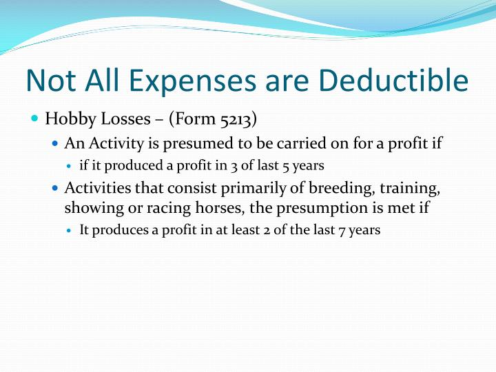 Not All Expenses are Deductible