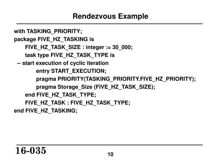 Rendezvous Example