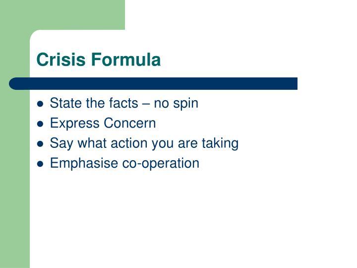 Crisis Formula