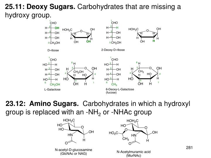 25.11: Deoxy Sugars.