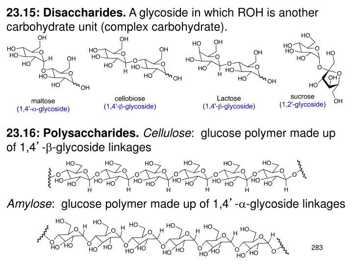23.15: Disaccharides.