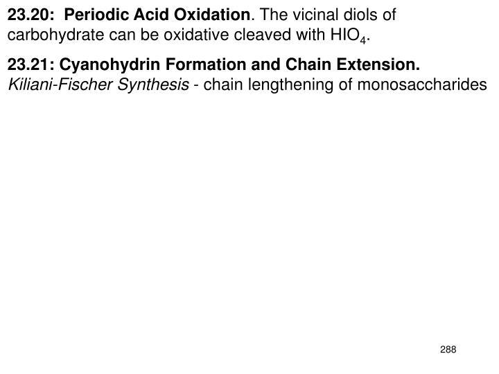 23.20:  Periodic Acid Oxidation
