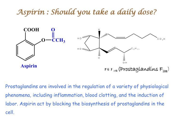 Aspirin : Should you take a daily dose?