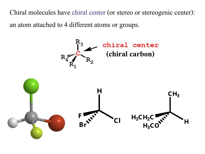 Chiral molecules have