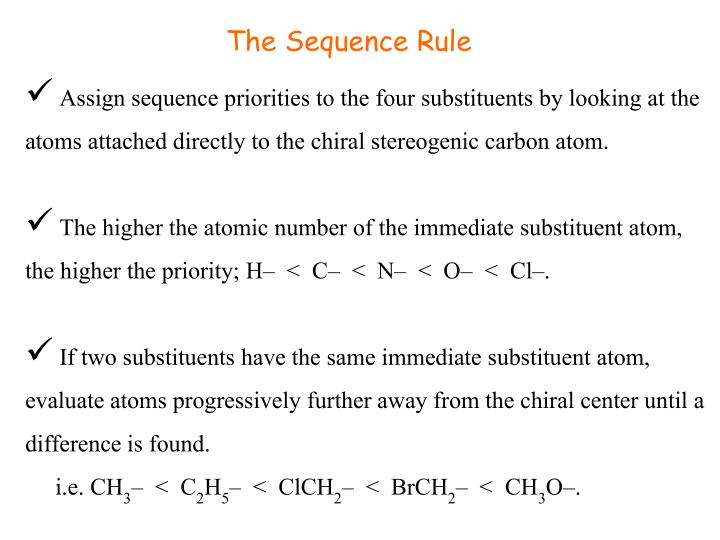 The Sequence Rule
