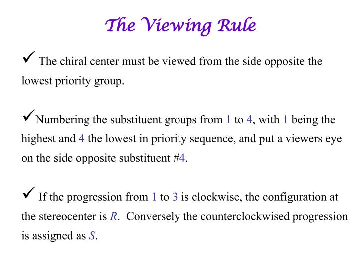 The Viewing Rule