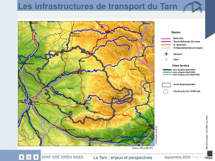 Les infrastructures de transport du Tarn