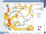 trafics routiers et volution 1999 2003 le poids de l a 88