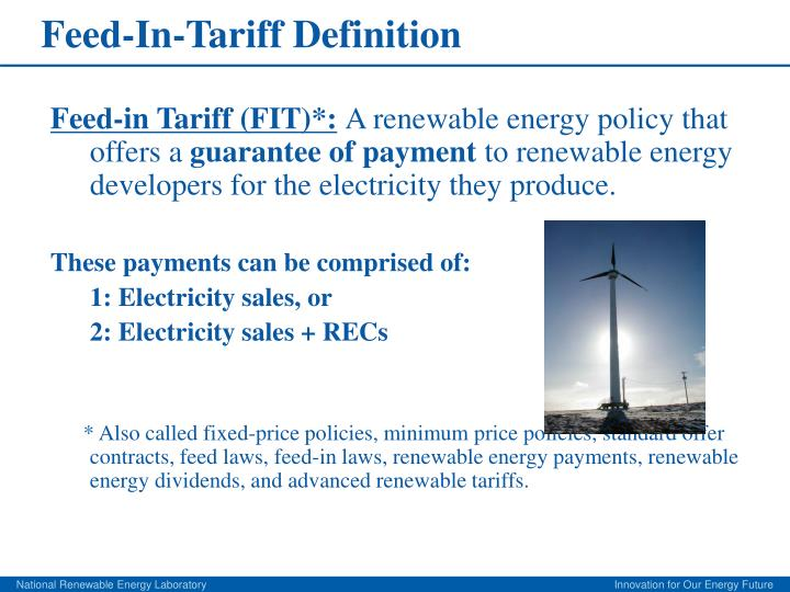 Feed in tariff definition