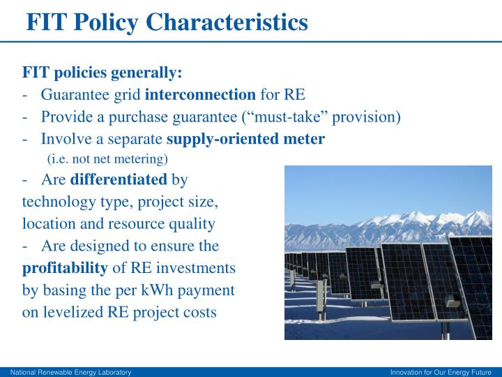 FIT Policy Characteristics