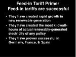 feed in tariff primer feed in tariffs are successful