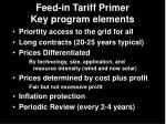 feed in tariff primer key program elements