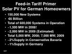 feed in tariff primer solar pv for german homeowners