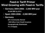 feed in tariff primer wind growing with feed in tariffs