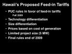 hawaii s proposed feed in tariffs