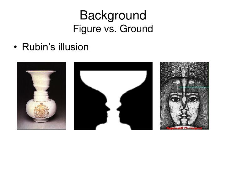 Background figure vs ground