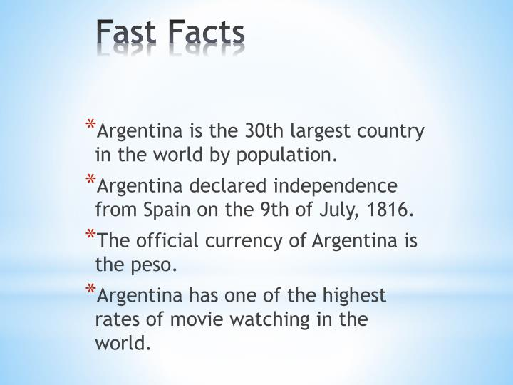 Argentina is the 30th largest country in the world by