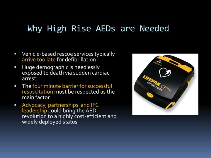 Why high rise aeds are needed