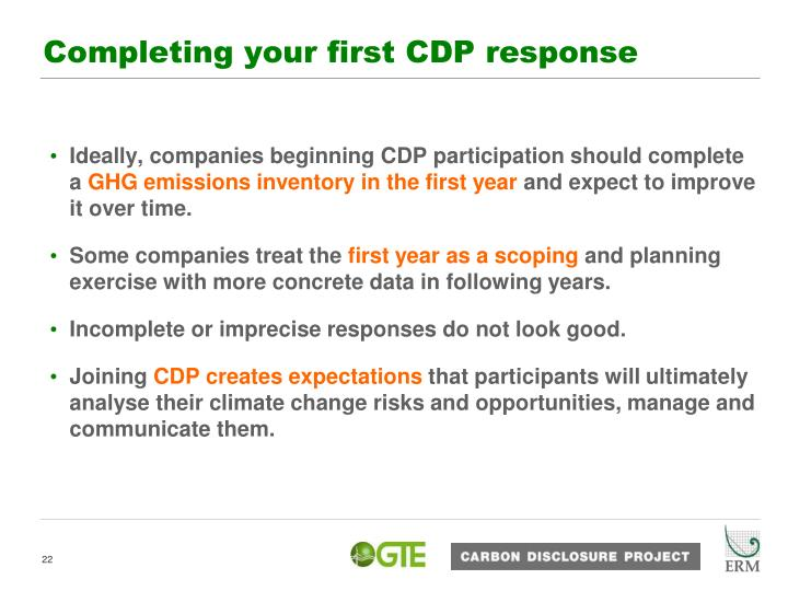 Completing your first CDP response