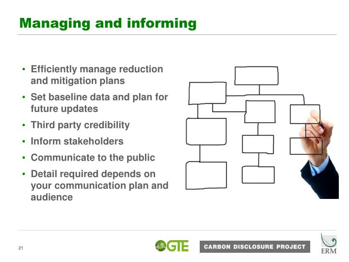 Efficiently manage reduction and mitigation plans