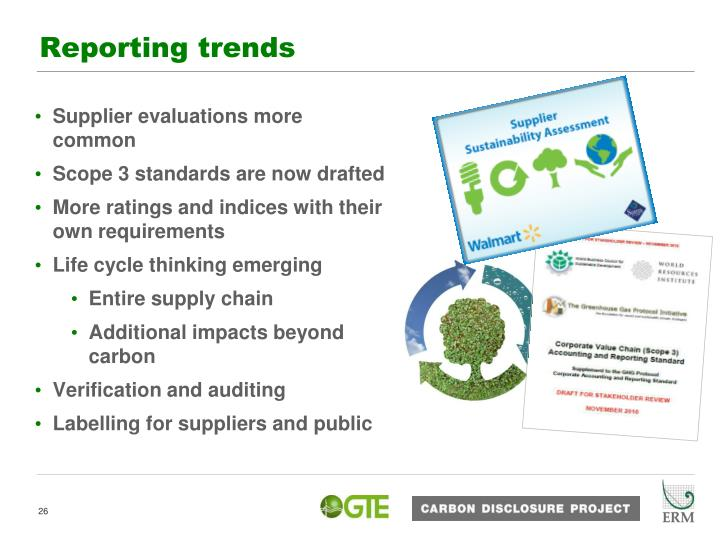 Reporting trends