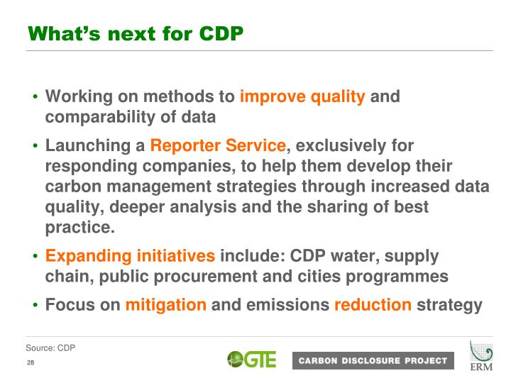 What's next for CDP