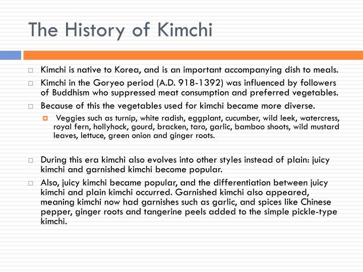 The History of Kimchi