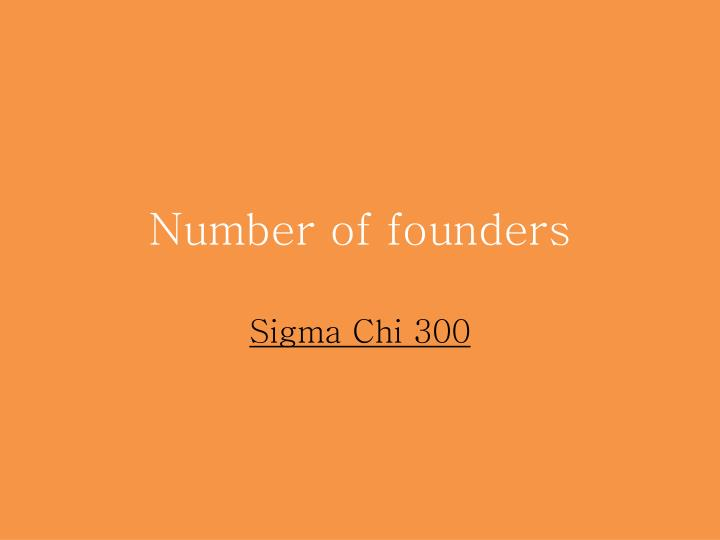 Number of founders