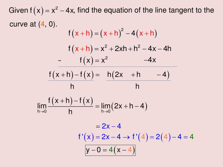 , find the equation of the line tangent to the