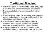 traditional mindset