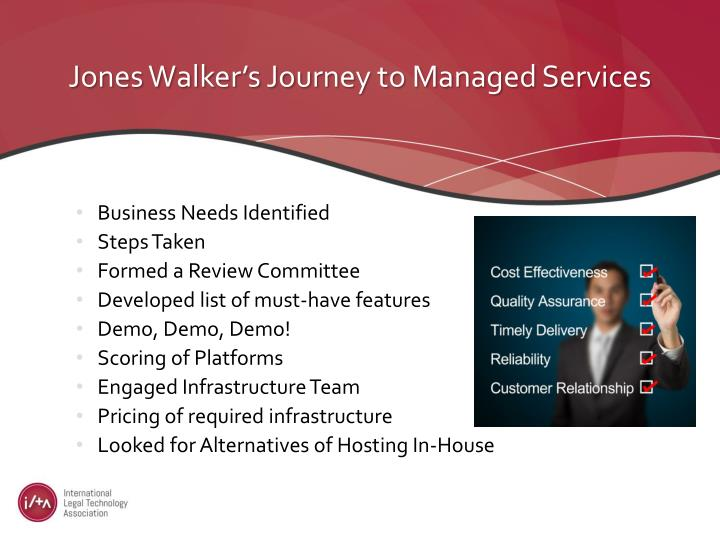 Jones Walker's Journey to Managed Services