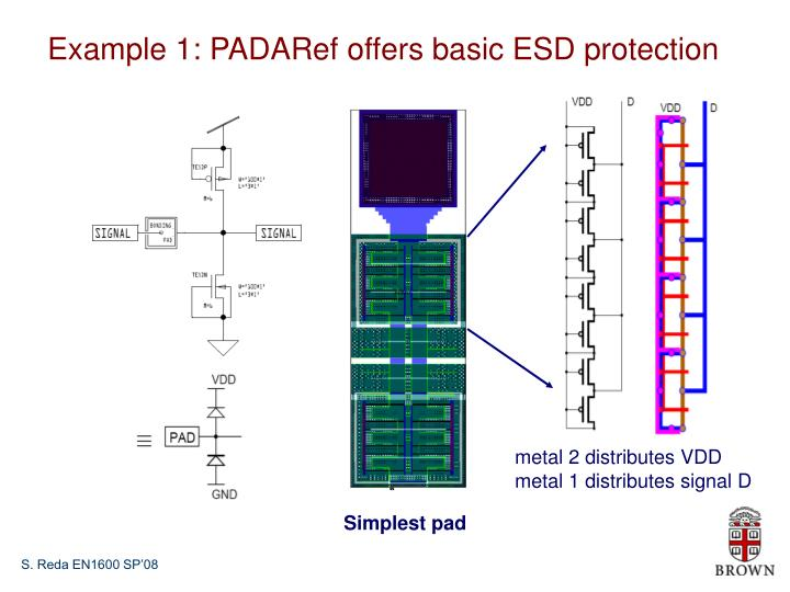 Example 1: PADARef offers basic ESD protection