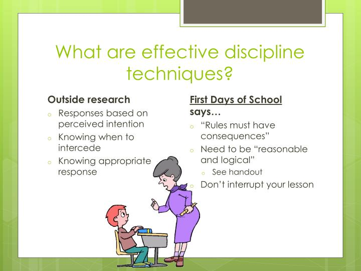 effective discipline in the classroon Effective discipline for misbehavior:  different strategies for classroom management and discipline,  discredited as an effective disciplinary device,.