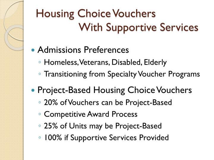 Housing Choice Vouchers