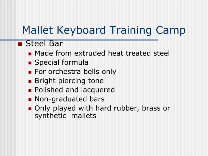 Mallet Keyboard Training Camp