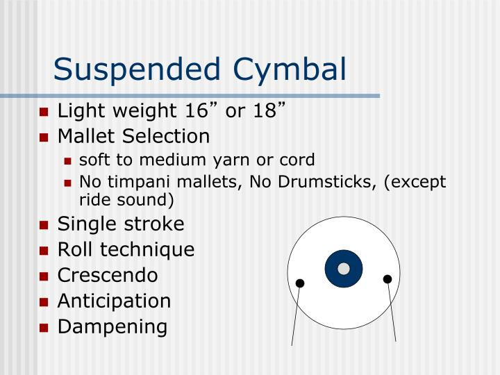 Suspended Cymbal