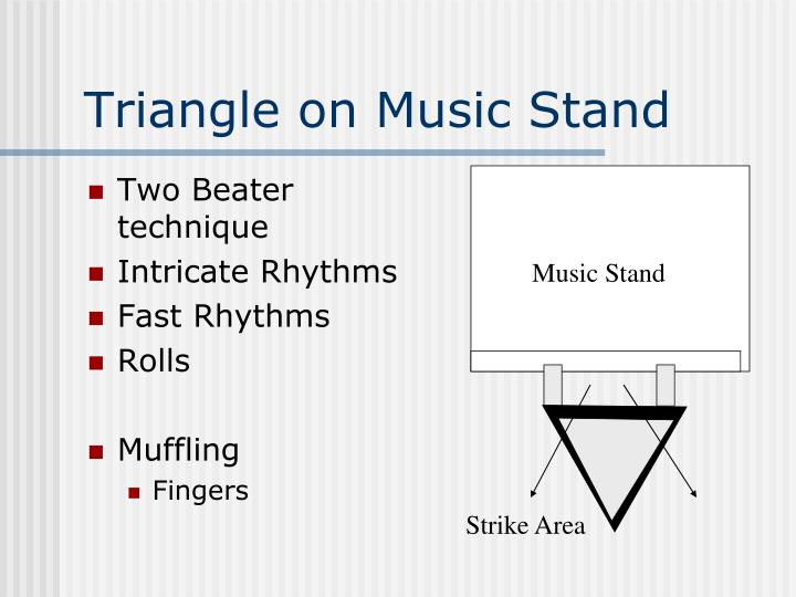 Triangle on Music Stand