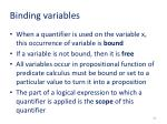 binding variables